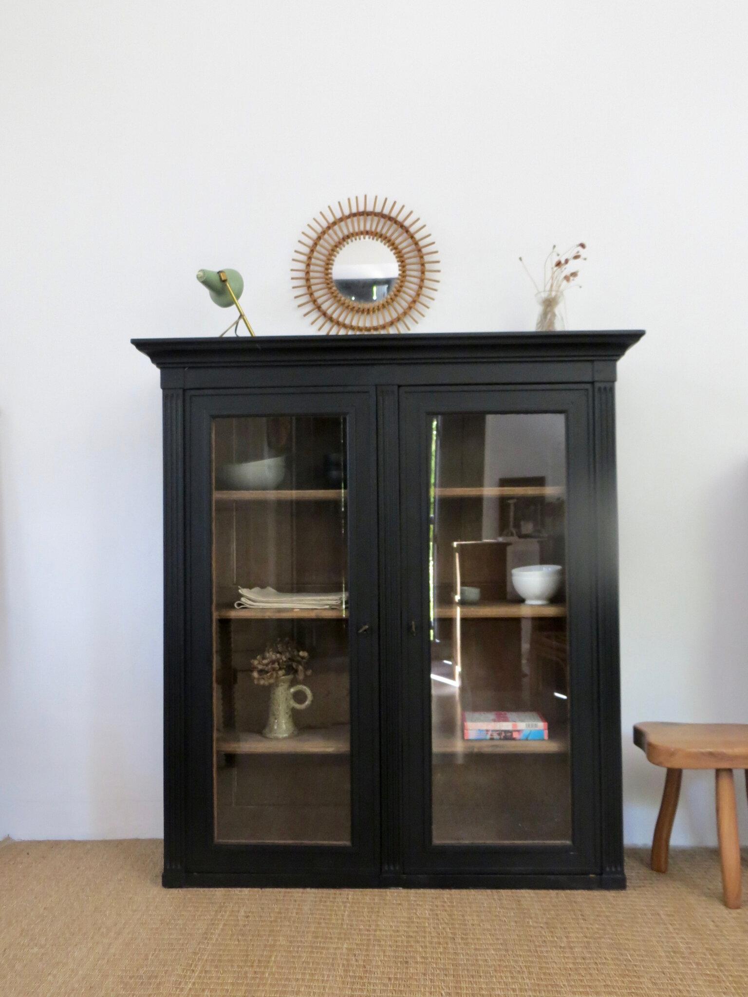 buffet haut ancien vitre noir meubles