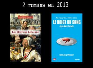 JMD 1-3 L'auteur 2 romans en 2013