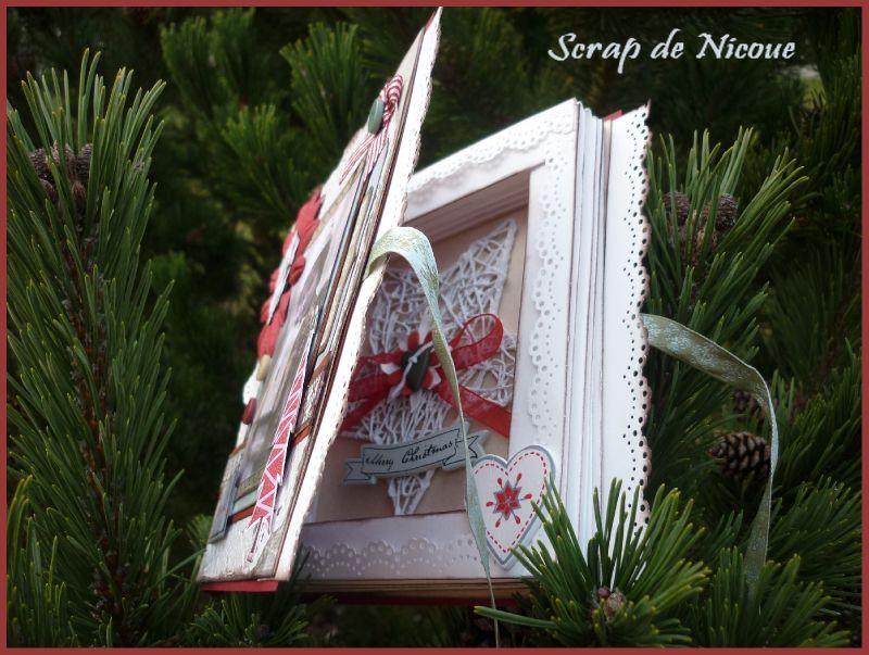 Carte Livre Pour Nol Et Tuto Scrap De Nicoue