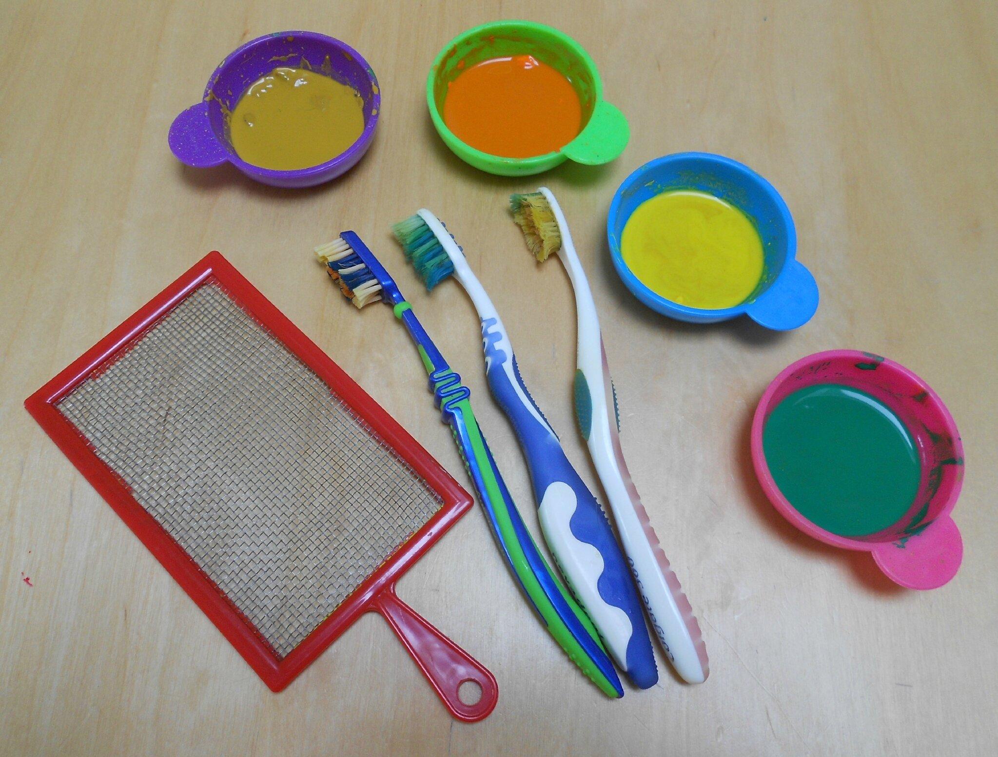 Peinture A La Brosse A Dents Le Blog De Thali Activites Pour Petites Mains