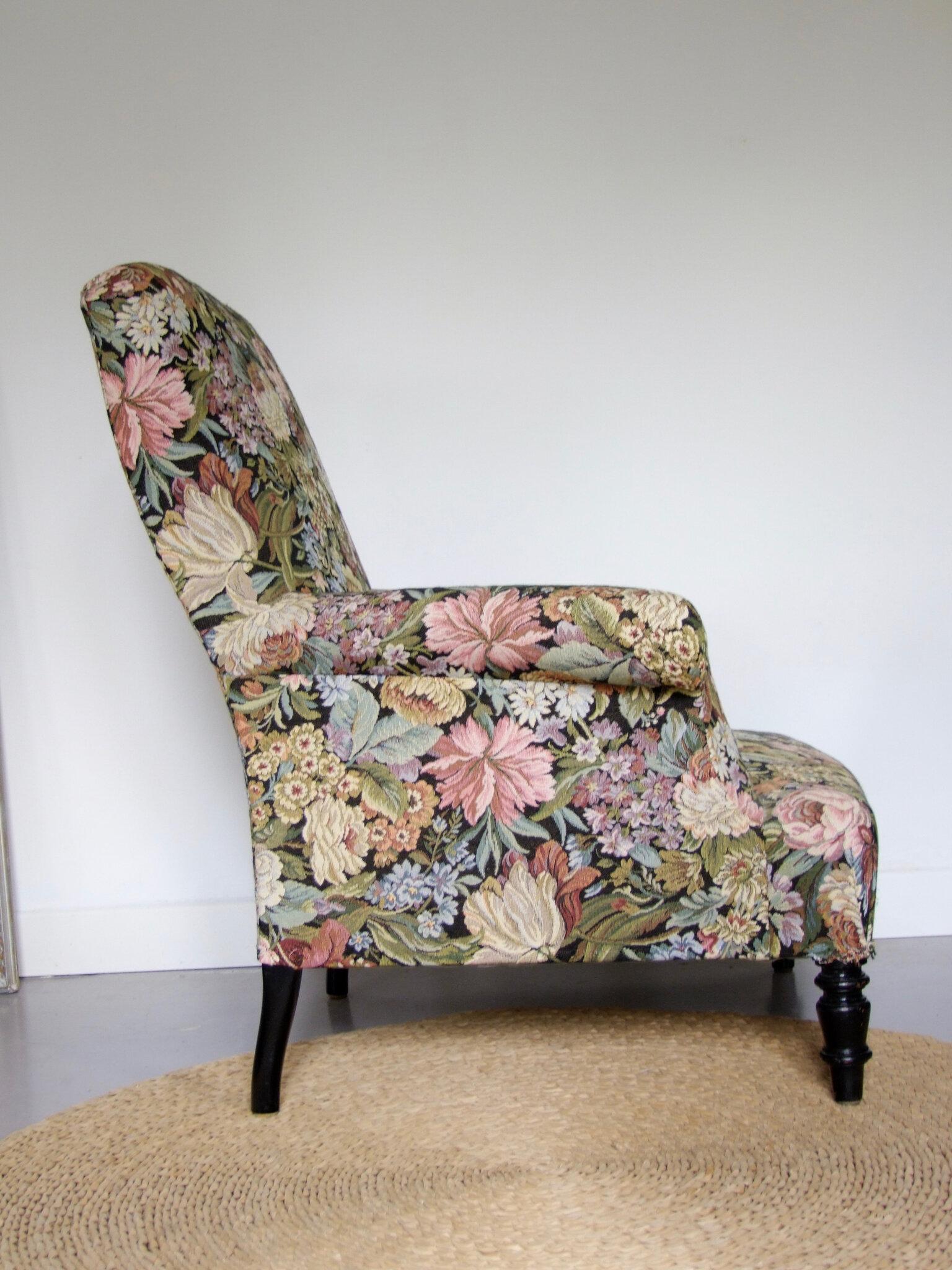 fauteuil ancien napoleon flowers