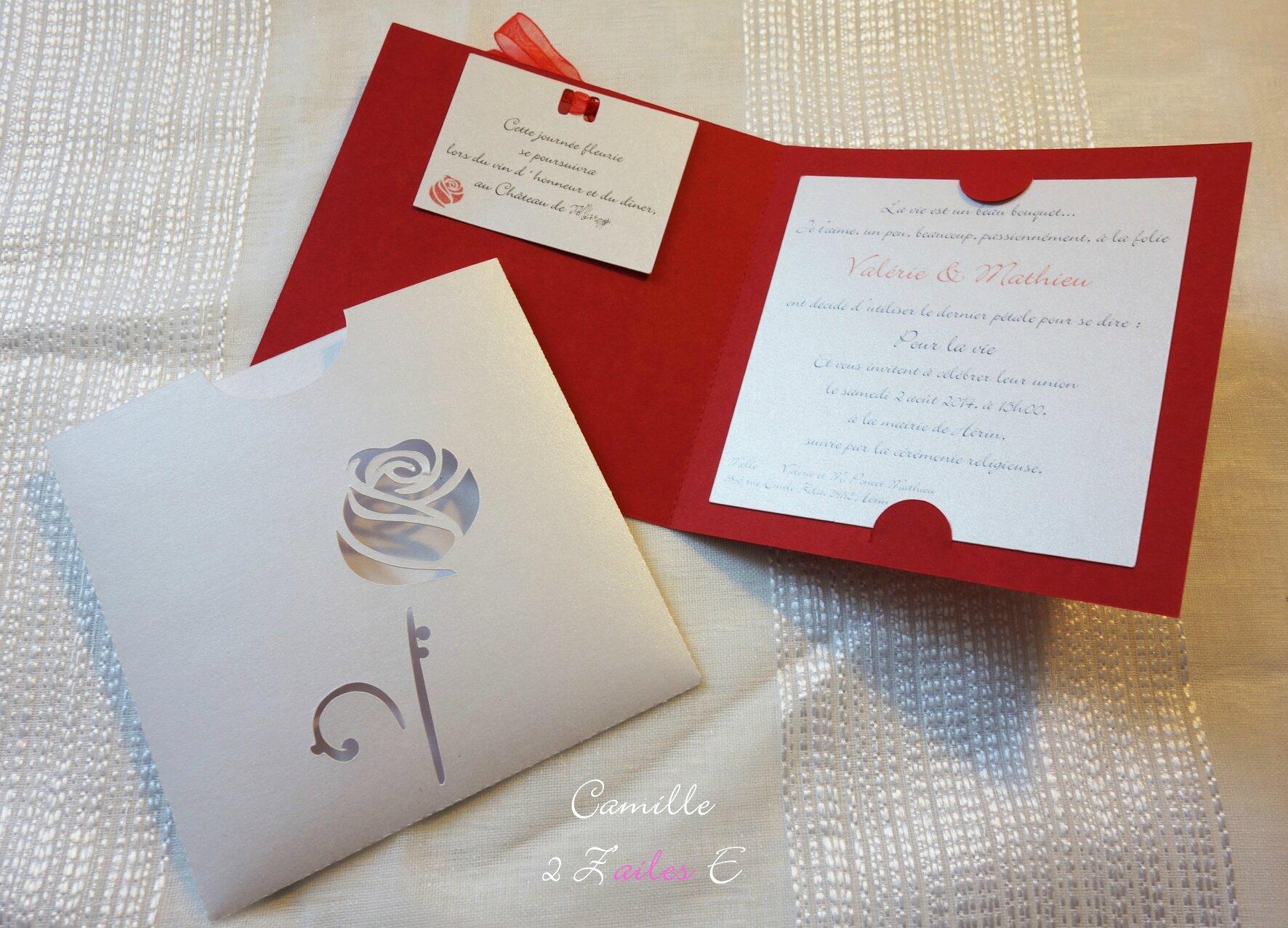 mariage romantique theme la rose