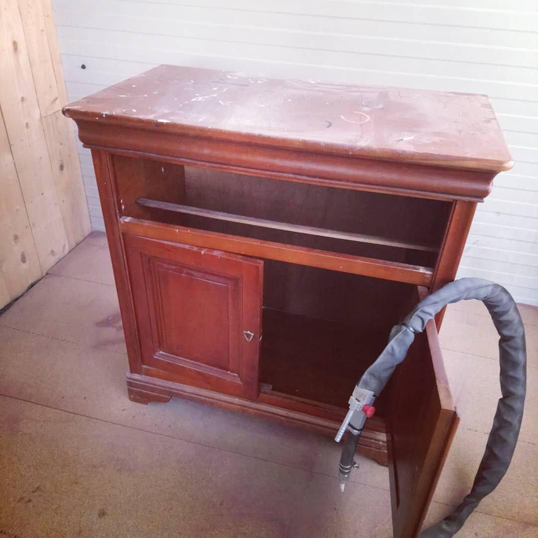 meuble tv en merisier renovation et