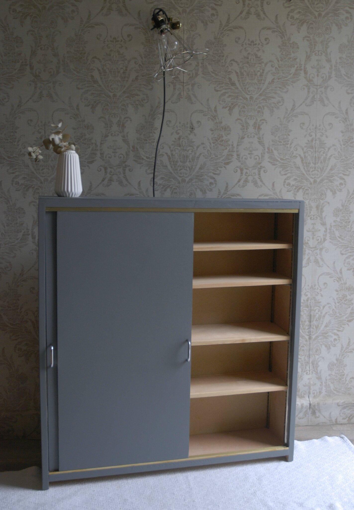 meuble etroit portes coulissantes vendu