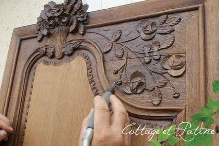 armoire normande de fiancailles avant