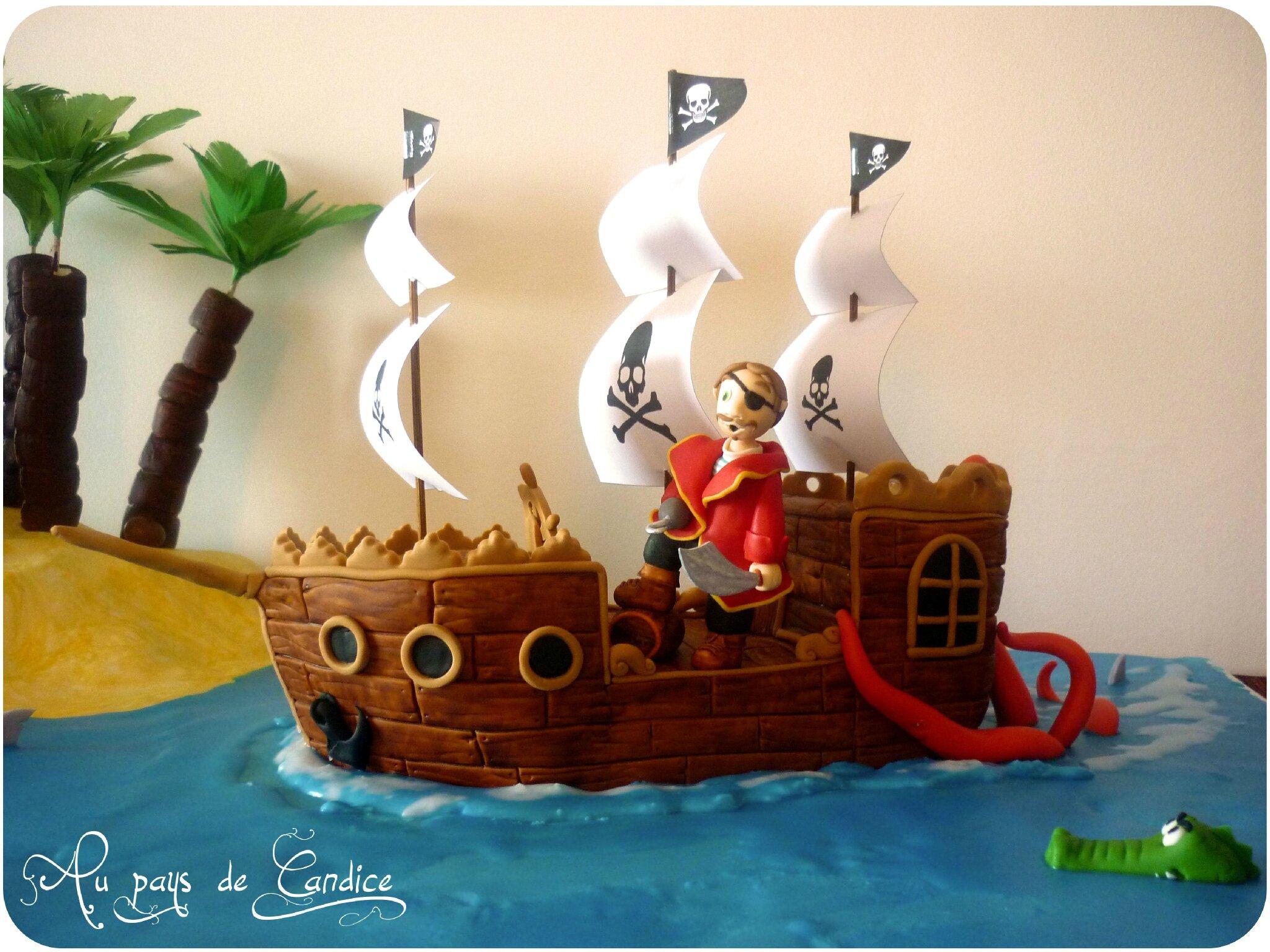 Gteau Bateau Pirate Tutoriel Au Pays De Candice