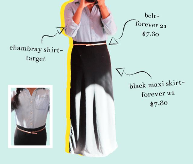 maxi - what i wore: black maxi skirt