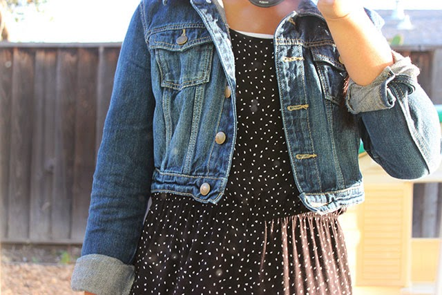 piday2 - what i wore: denim and dots
