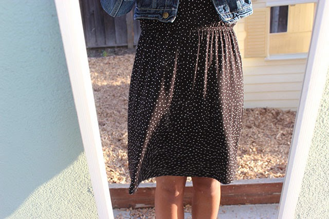 piday3 - what i wore: denim and dots