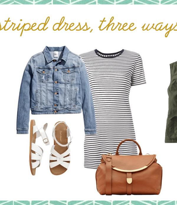 striped dress // three ways