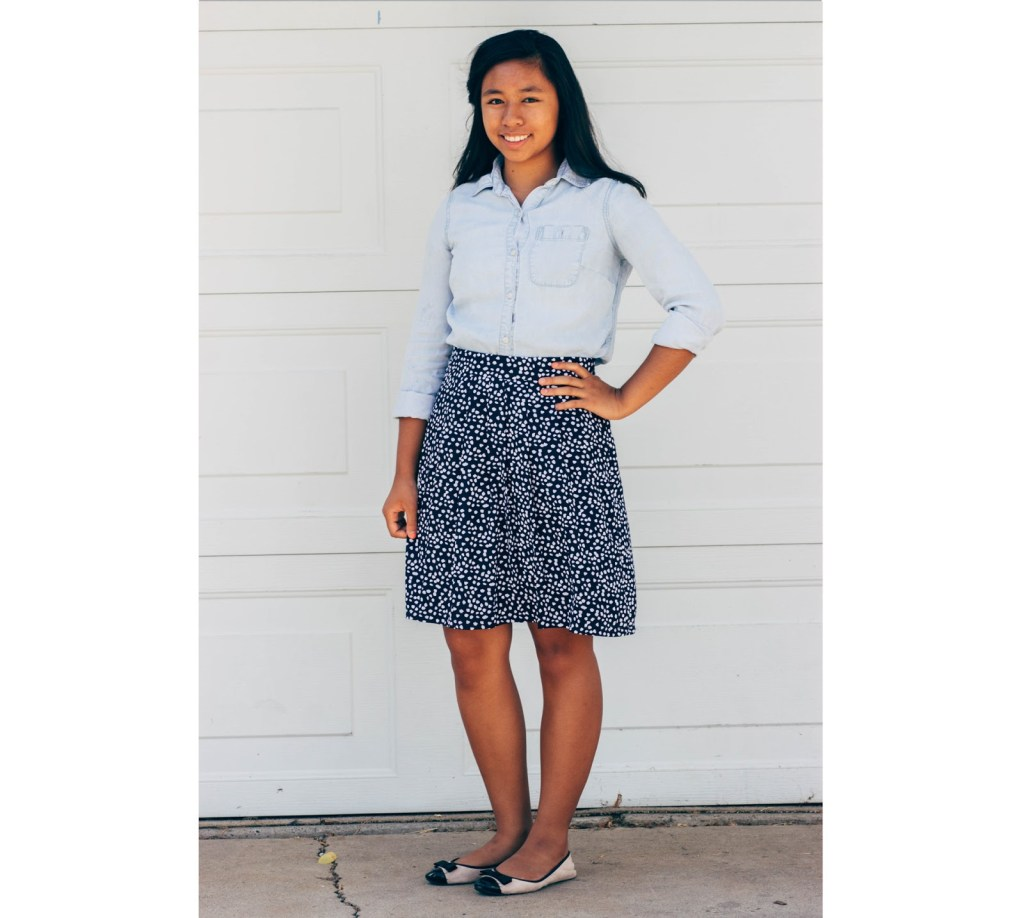 outfit1 1024x918 - Chambray for School- 7 Outfits
