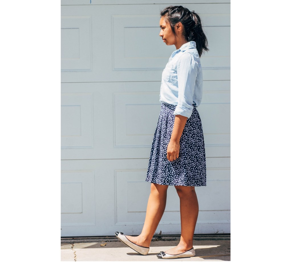 outfit11 1024x918 - Chambray for School- 7 Outfits