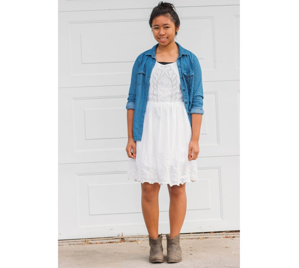outfit3 1024x918 - Chambray for School- 7 Outfits