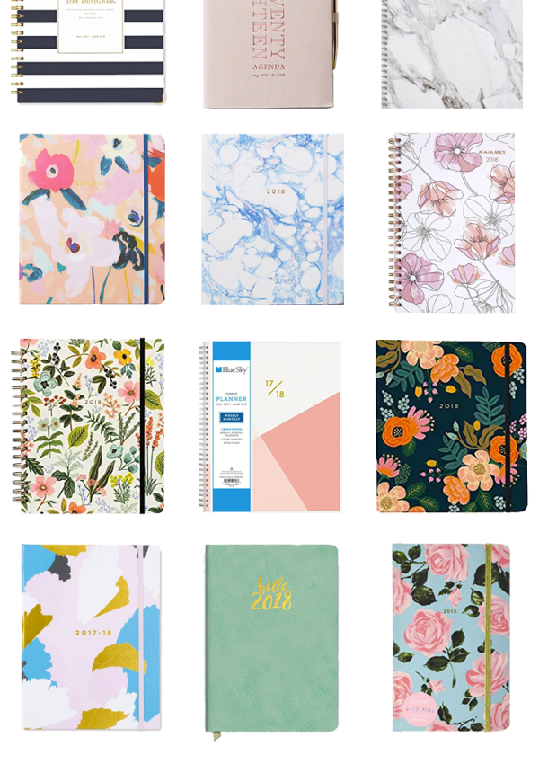 Stylish and affordable planners under $35 for school, work, blogging, and day to day planning