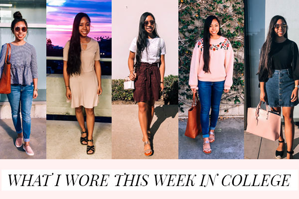 What I Wore This Week in College | Spring Outfits for School