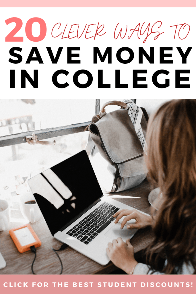 Are you a student searching for some easy ways to save money in college? In this post, I'm sharing how you can save money on shopping, groceries, transportation, travel, and educational expenses in 20 different ways. Click to read all about it!