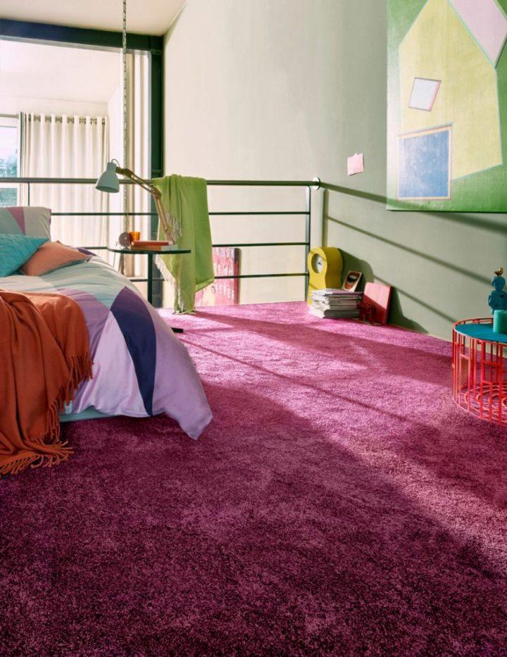 Schöner Wohnen Teppichboden Energy Fuchsia