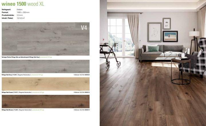 wineo 1500 wood XL Purline Bioboden großzügige Landhausdielen-Optik für exklusives Wohnen