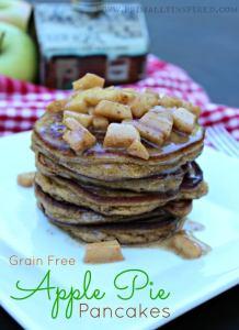 Apple Pie Paleo Pancakes