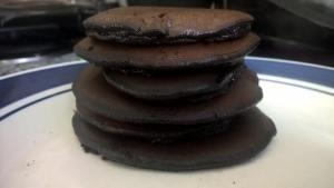 chocolate avocado pancakes