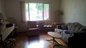 The living room taking shape.