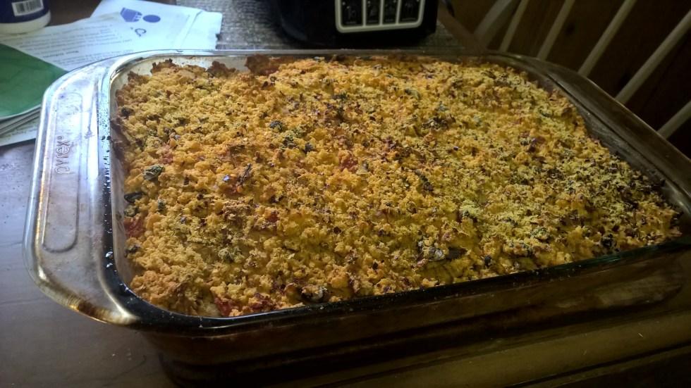 Vegan Hummus Enchilada Bake