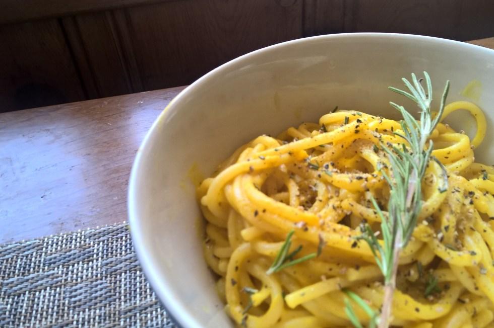 Rosemary Pumpkin White Bean Linguini
