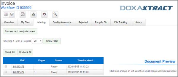 DoxaXtract - Indexing
