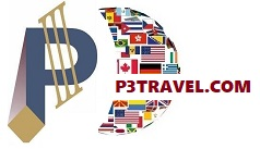 P3 Travel |   Logo P3 Travel website banner larger red larger USE