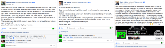 P3 Tuning website reviews motorcycle tuning Liverpool