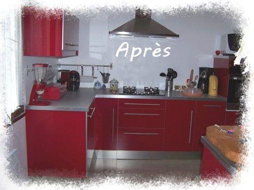 cuisine ikea rouge laquee virgin crea