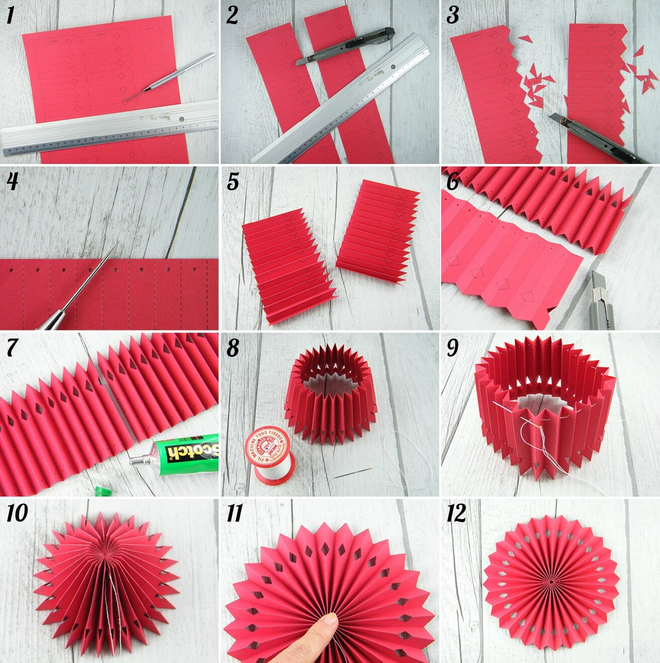 diy printables des rosaces en papier