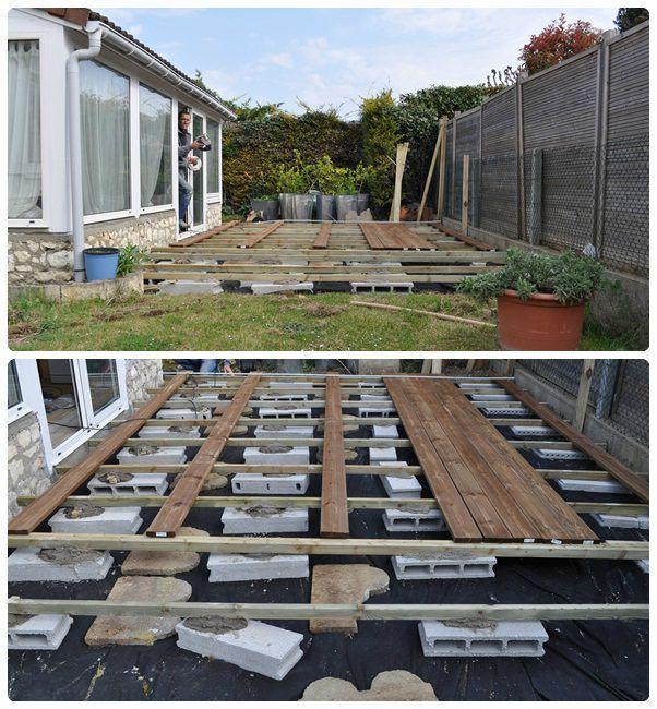 autoconstruction du salon de jardin en
