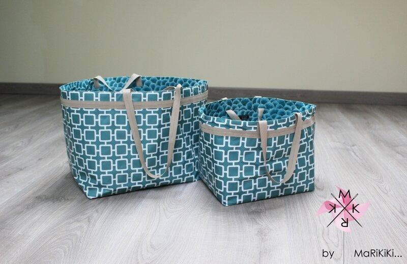 02 sacs bleus vintage