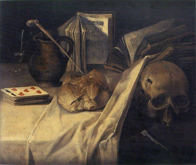 Vanité , hst , vers 1640 , 50,5 x 60,5cm - musée d'Art moderne de St Etienne , fond ancien - Inv