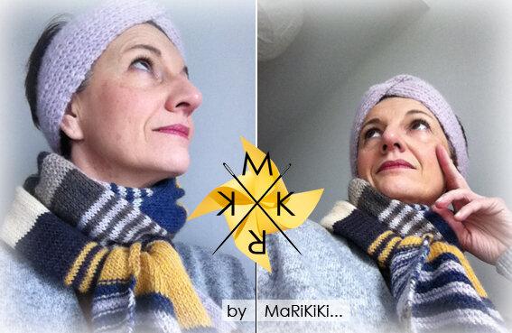 05 écharpe rayée alpaca + turban