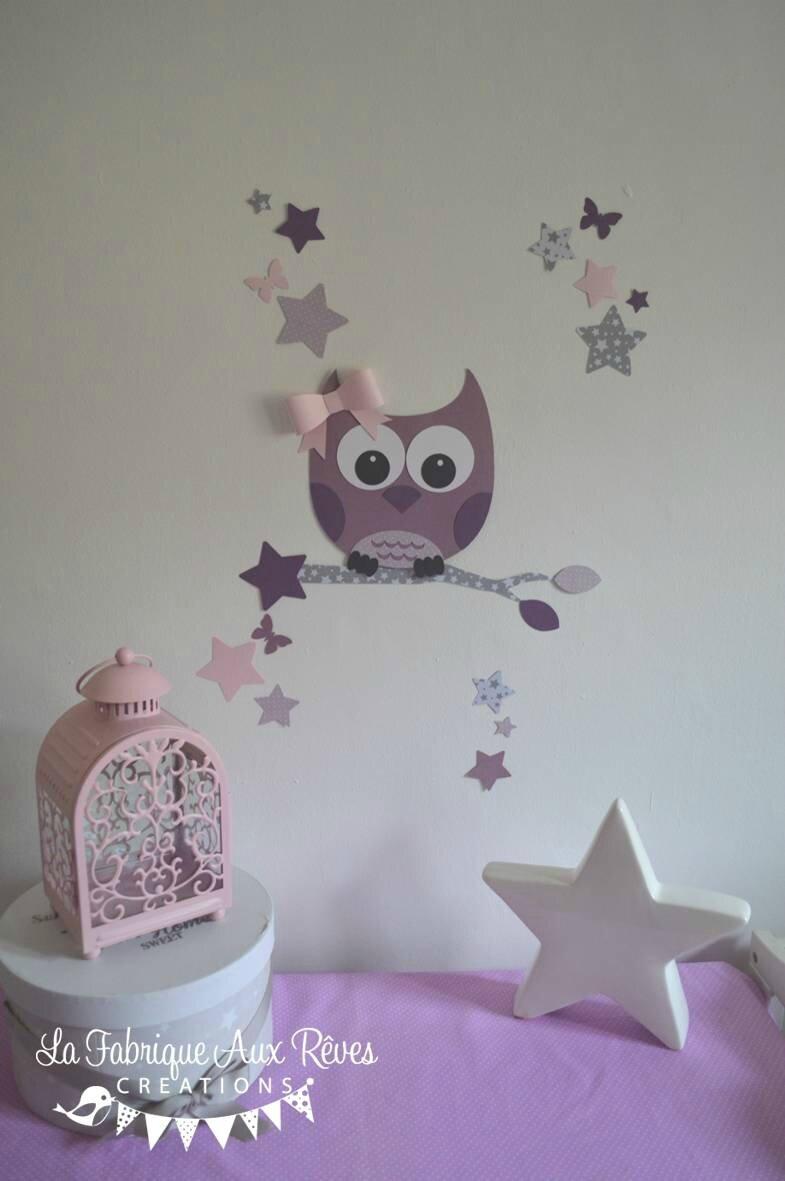 Stickers Dcoration Chambre Enfant Fille Bb Hibou