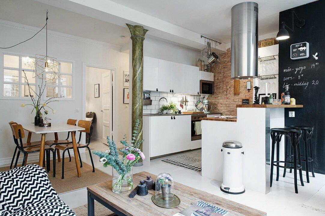 cuisine ouverte dans un petit espace