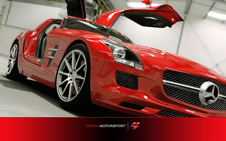 mercedes c63 amg black series hd wallpaper wallpaperbetter. Forza Motorsport 4 Windows 7 Car Wallpapers 01 Red Mercedes Benz Coupe Hd Wallpaper Wallpaperbetter