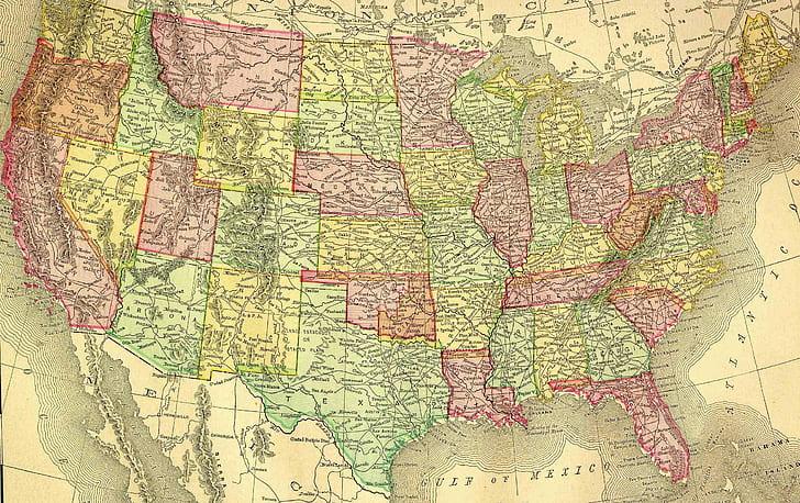 View/download higher resolution (1500x955) click on above map to view higher resolution image. Map Of The Usa Hd Wallpaper Wallpaperbetter
