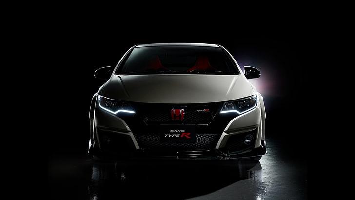Indycar's newest pace car i. White Honda Civic Type R Face Honda Black Background Civic Civici Hd Wallpaper Wallpaperbetter