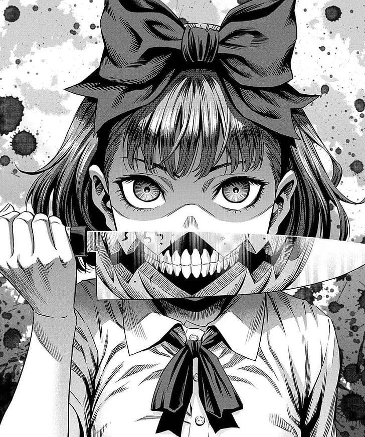 Manga Anime Gore Pisau Gelap Saturasi Rendah Monokrom Hitam Putih Wallpaper Hd Wallpaperbetter
