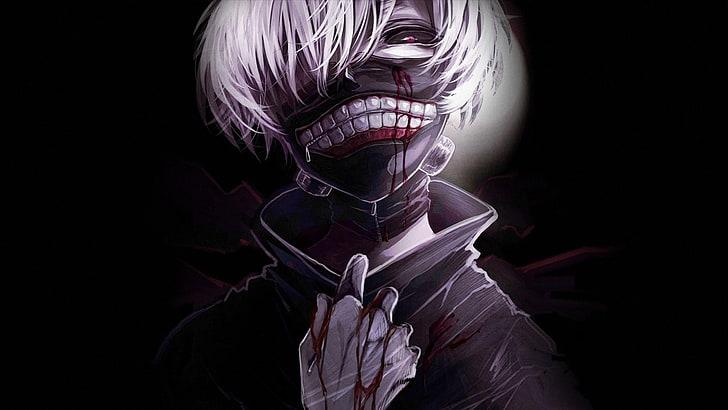 White Haired Male Anime Character Tokyo Ghoul Kaneki Ken Black Ghoul Hd Wallpaper Wallpaperbetter