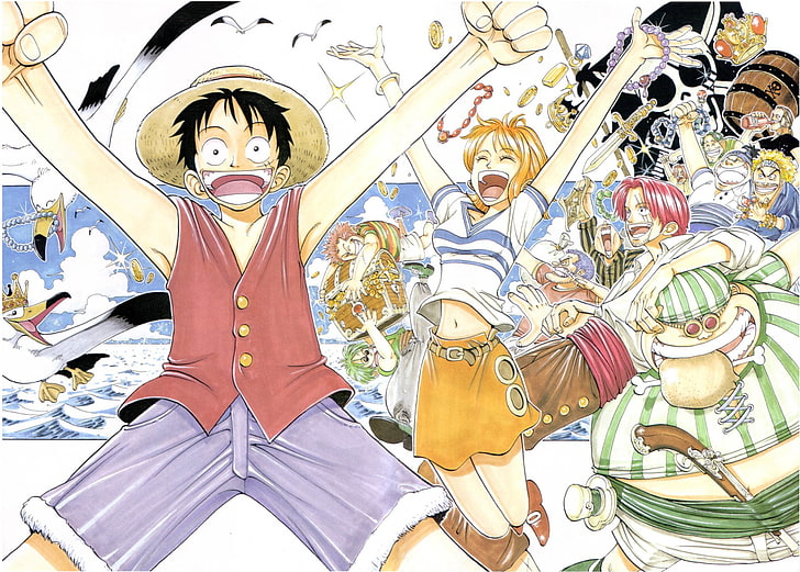 They are all free to print, and the kids will love coloring them in. Anime One Piece Monkey D Luffy Nami One Piece Shanks One Piece Hd Wallpaper Wallpaperbetter