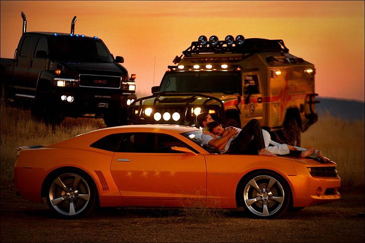 Movies, bumblebee, transformers, hd, 4k. Sunset Transformers Megan Fox Cars Trucks Gmc Bumblebee Hummer Chevrolet Camaro Shia Labeouf Gmc Top People Actors Hd Art Hd Wallpaper Wallpaperbetter