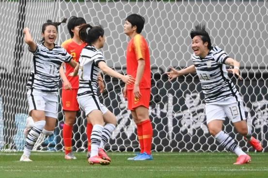 中场报道:中国女足连续输2球,韩国0-2总比分落后2-3