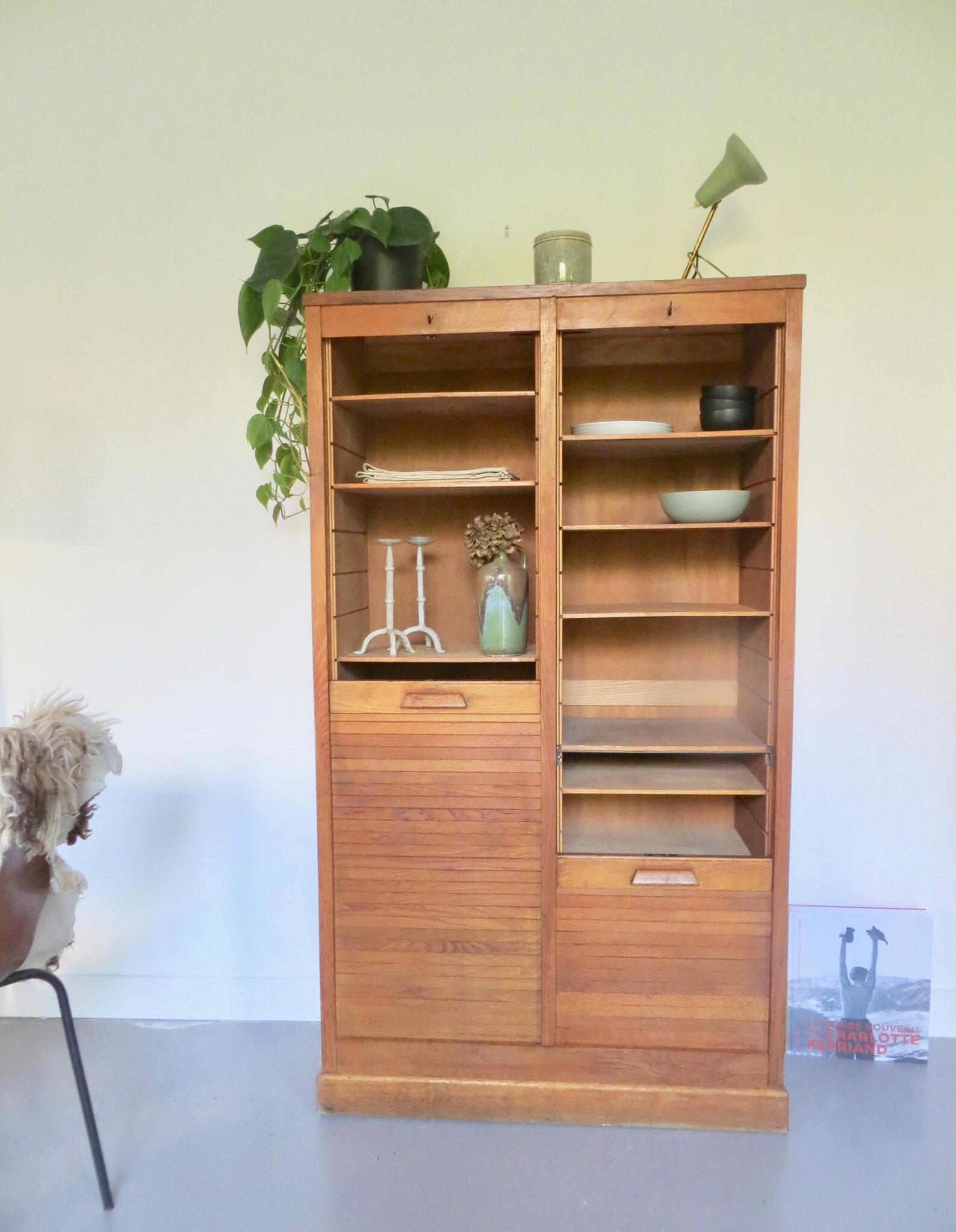 armoire classeur a rideau vintage