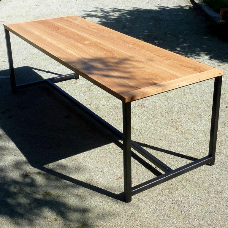 table geante chene acier un week end