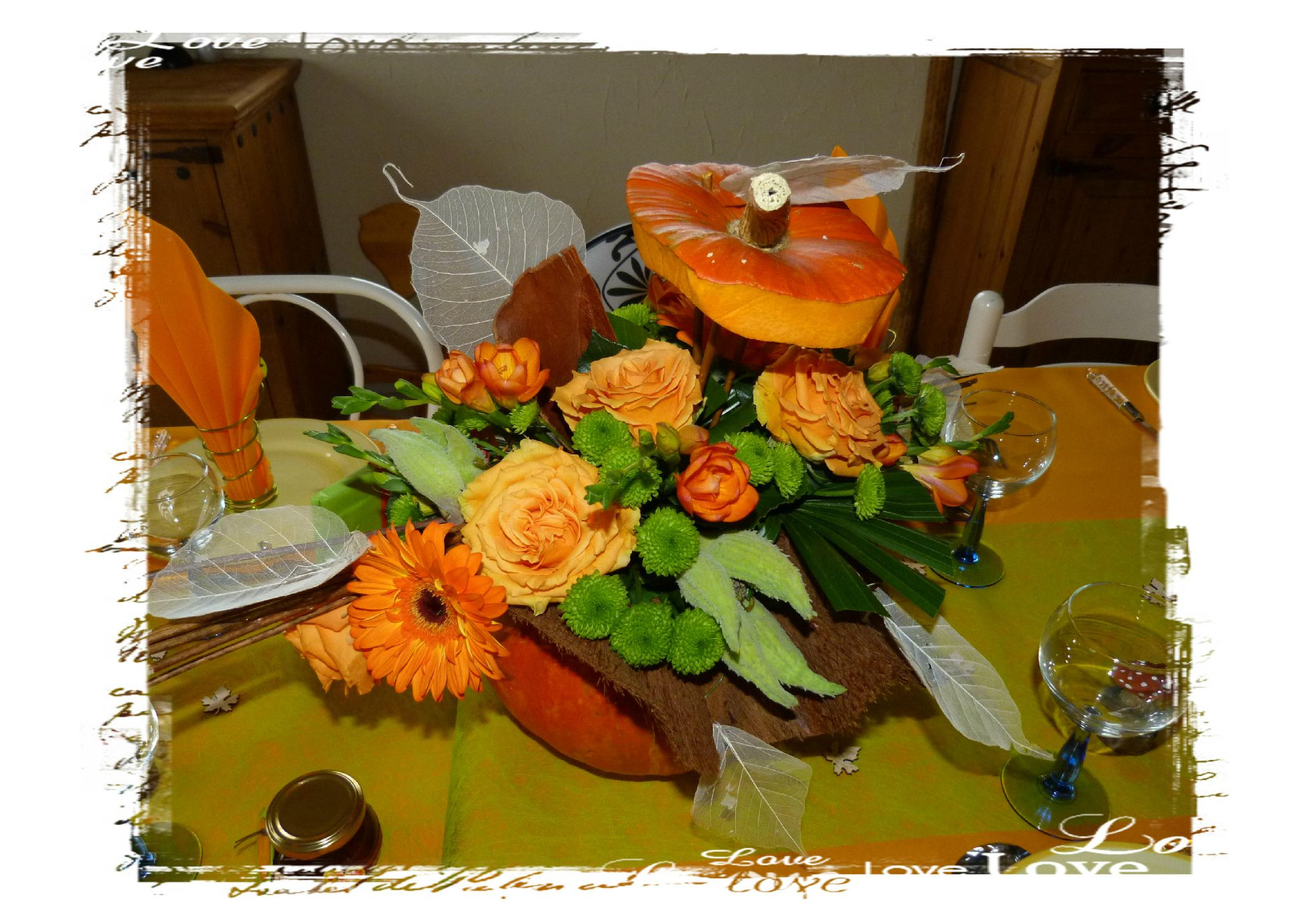 Amazing Deco Table Winnie With Deco Table Theme Automne