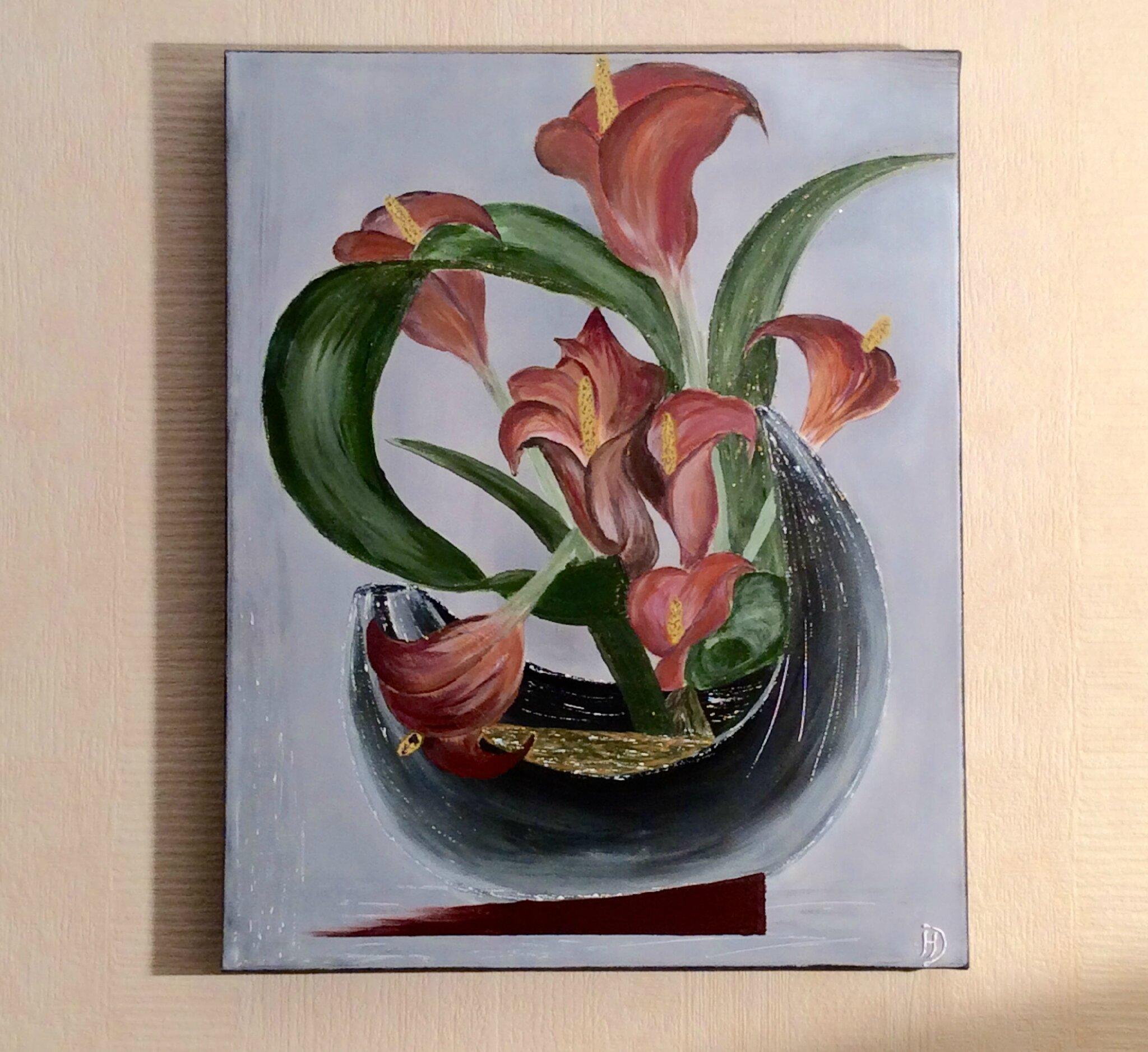 Bouquet D Arums La Peinture En Abstrait